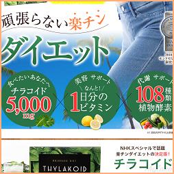 【チラコイド】置き換えダイエットの新定番